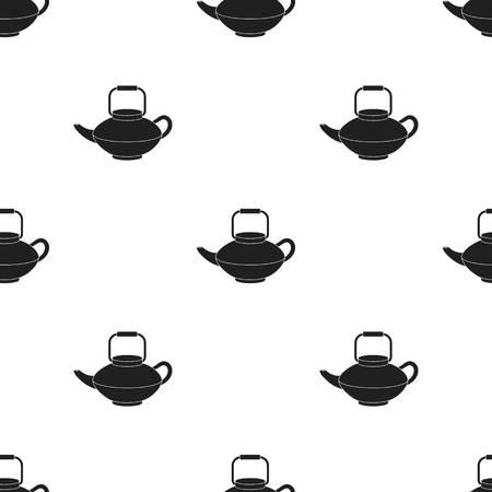 tetsubin: Tetsubin icon in  black style isolated on white background. Sushi pattern stock vector illustration.