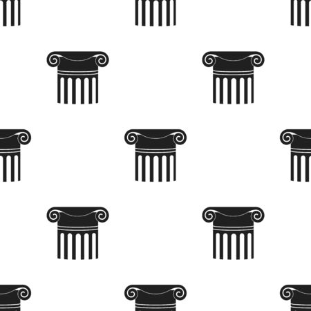 roman pillar: Column icon in  black style isolated on white background. Theater pattern stock vector illustration