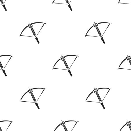 Crossbow icon in black style isolated on white background. Weapon pattern stock vector illustration.