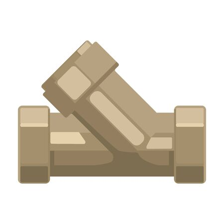 filtración: Camiseta de fontanería icono apropiado en el estilo de dibujos animados aislado en el fondo blanco. Filtración ilustración símbolo de sistema de la serie de vectores.