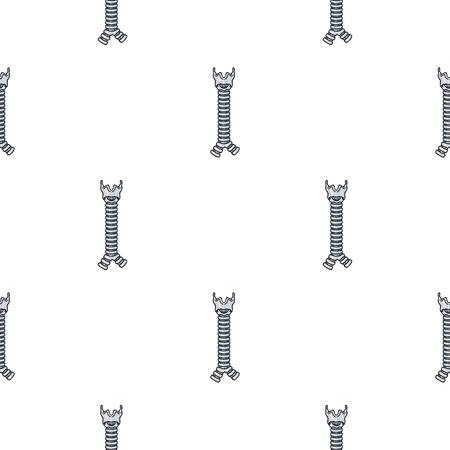trachea: Human trachea icon in cartoon style isolated on white background. Human organs symbol stock vector illustration. Illustration