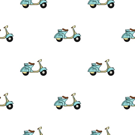 Italian scooter from Italy icon in cartoon style isolated on white background. Italy country pattern stock vector illustration.