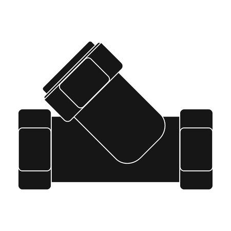 filtración: Camiseta de fontanería icono apropiado en el estilo de negro sobre fondo blanco. Filtración ilustración símbolo de sistema de la serie de vectores. Vectores