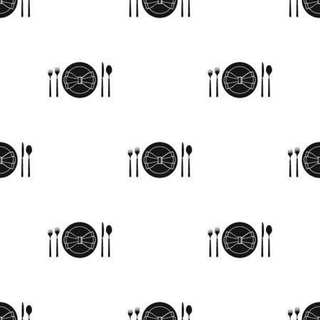 restaurant table: Restaurant table blackting icon in black style isolated on white background. Restaurant pattern stock vector illustration.