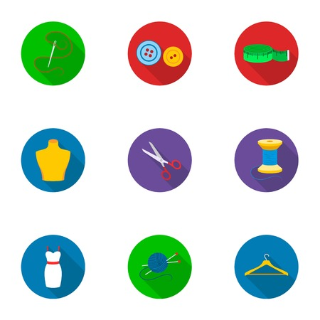 Atelie set icons in flat style. Big collection of atelie vector symbol stock illustration