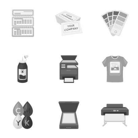Typography set icons in monochrome style. Big collection of typography vector symbol stock illustration