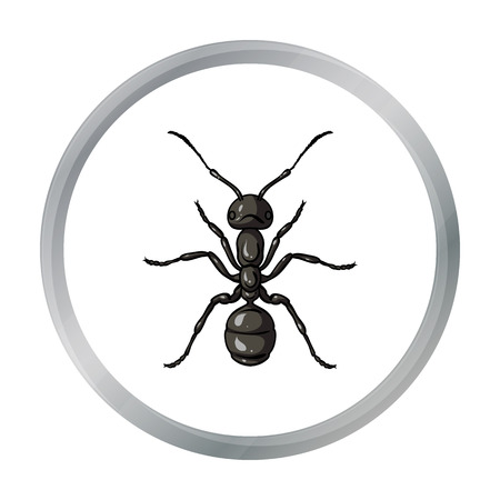 Ant icon in cartoon style isolated on white background. Insects symbol stock vector illustration.