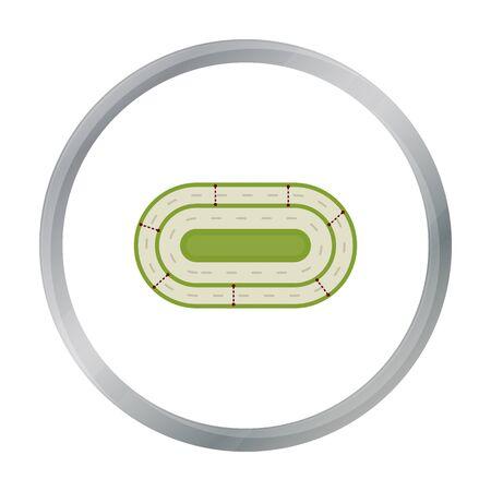 Hippodrome icon in cartoon style isolated on white background. Hippodrome and horse symbol stock vector illustration. 版權商用圖片 - 70211766