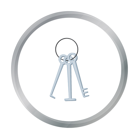 Hackers lockpicks icon in cartoon style isolated on white background. Hackers and hacking symbol stock vector illustration.