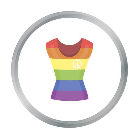 Dress icon cartoon. Single gay icon from the big minority, homosexual cartoon. Illustration