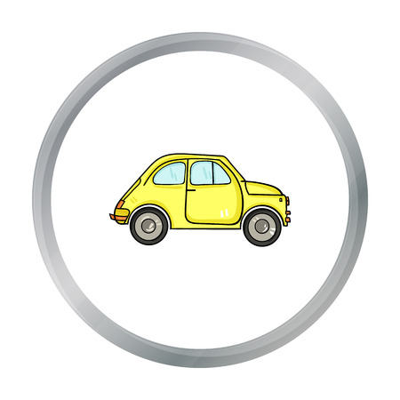 Italian retro car from Italy icon in cartoon style isolated on white background. Italy country symbol stock vector illustration. Illustration