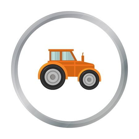 Tractor icon of vector illustration for web and mobile