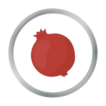 ruby: Garnet icon cartoon. Singe fruit icon from the food cartoon.