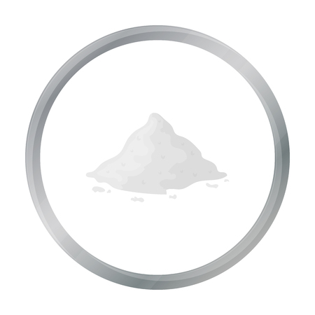 Cocain icon in cartoon style isolated on white background. Drugs symbol stock vector illustration.