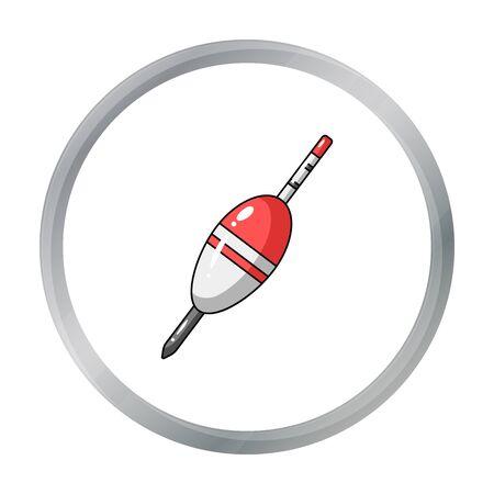 fishing float: Fishing float icon in cartoon style isolated on white background. Fishing symbol stock vector illustration.