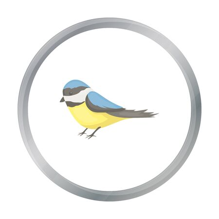twit: Parus icon in cartoon style isolated on white background. Park symbol stock vector illustration.