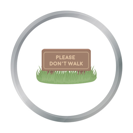 dont walk: Please dont walk icon in cartoon style isolated on white background. Park symbol stock vector illustration.