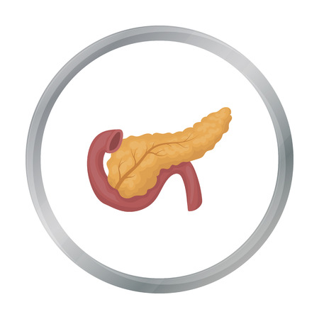 Pancreas icon in cartoon style isolated on white background. Organs symbol stock vector illustration. Illustration