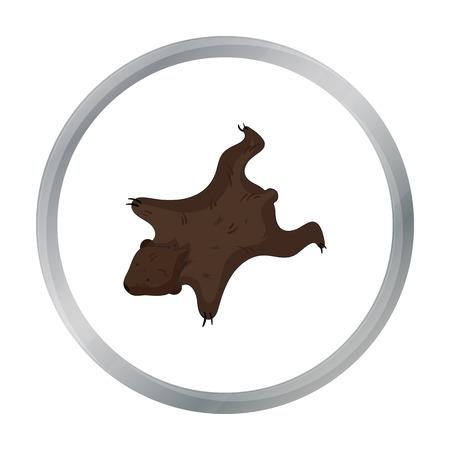 bearskin: Bearskin icon in cartoon style isolated on white background. Stone age symbol stock vector illustration. Illustration
