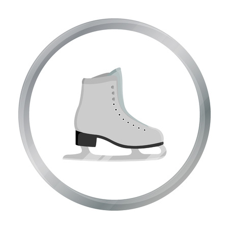 Skates icon cartoon. Single sport icon from the big fitness, healthy, workout cartoon.