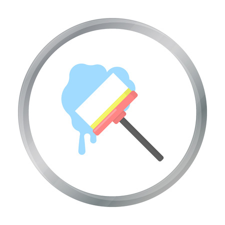 Squeegee cartoon icon. Illustration for web and mobile design. Illustration