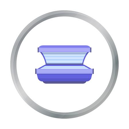 Curtido icono de la cama en el estilo de dibujos animados aislado en el fondo blanco. cuidado de la piel ilustración vectorial símbolo de la acción.