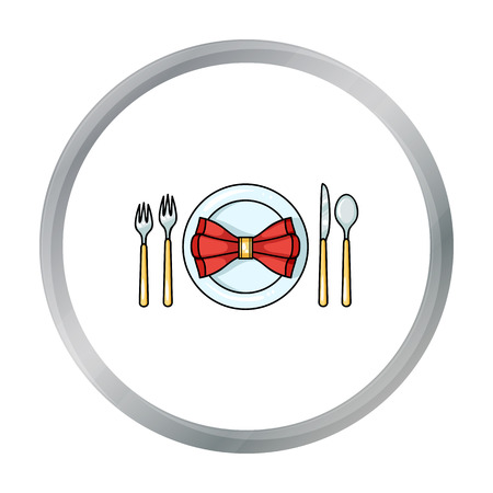 Restaurant table cartoonting icon in cartoon style isolated on white background. Restaurant symbol stock vector illustration.