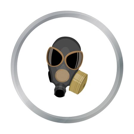gas masks: Gas masks icon cartoon. Single weapon icon from the big ammunition, arms set.