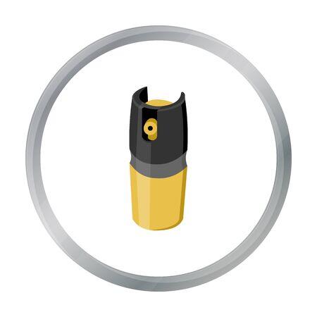 Gas Kanister Icon Cartoon. Single Waffensymbol aus der großen Munition, Arme gesetzt.