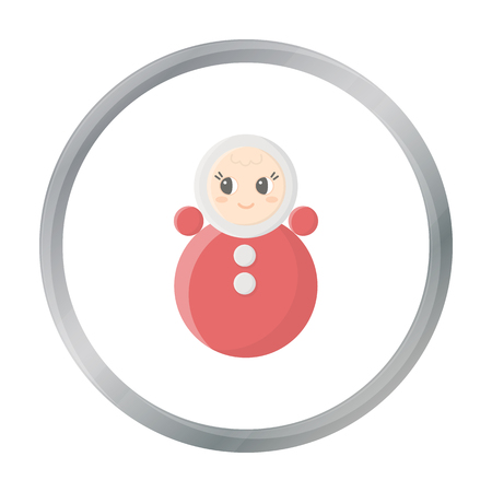 wobbly: Roly Poly cartoon icon. Illustration for web and mobile design.