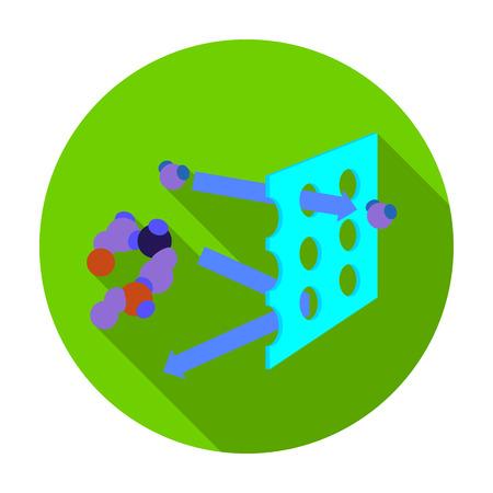 filtración: icono de filtración de agua en el estilo plano aislado en el fondo blanco. Filtración ilustración símbolo de sistema de la serie de vectores.