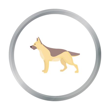 alsatian: German shepherd vector icon in cartoon style for web