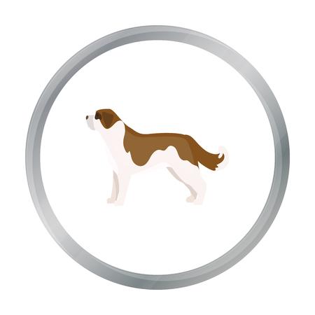 St. Bernard dog vector icon in cartoon style for web