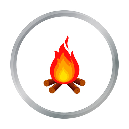 Campfire with firewood icon of vector illustration for web and mobile