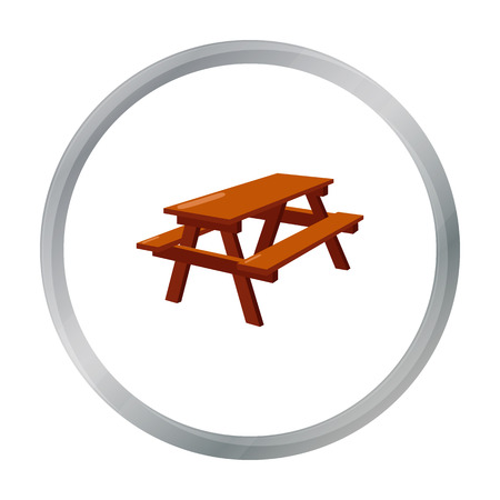 seated: Bench icon of vector illustration for web and mobile
