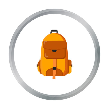 Hiking bag icon of vector illustration for web and mobile Illustration