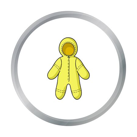 Baby bodysuit icon in cartoon style isolated on white background. Baby born symbol stock vector illustration.