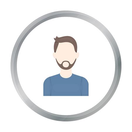 Man with beard icon cartoon. Single avatar,peaople icon from the big avatar cartoon. Illustration