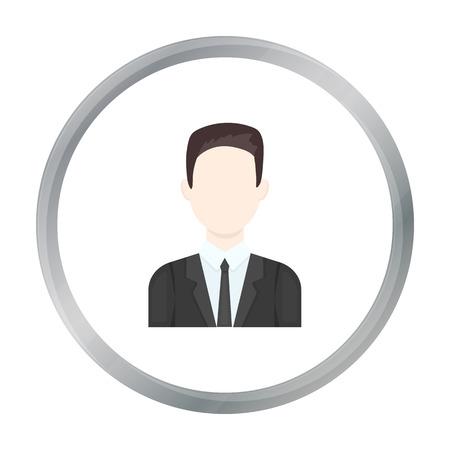 Businessman icon cartoon. Single avatar,peaople icon from the big avatar cartoon. Illustration