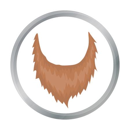 Man s beard icon in cartoon style isolated on white background. Beard symbol stock vector illustration.