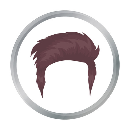 Man s hairstyle icon in cartoon style isolated on white background. Beard symbol stock vector illustration. Illustration