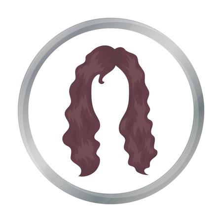 voluminous: Woman s hairstyle icon in cartoon style isolated on white background. Beard symbol stock vector illustration. Illustration
