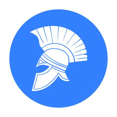 roman soldiers: Romano icona soldati casco in stile bianco isolato su sfondo bianco. Italia paese simbolo illustrazione stock vettoriale.