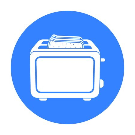Toaster icon in black style isolated on white background. Household appliance symbol stock vector illustration. Illustration