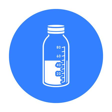 Mixture icon black. Single medicine icon from the big medical, healthcare black.