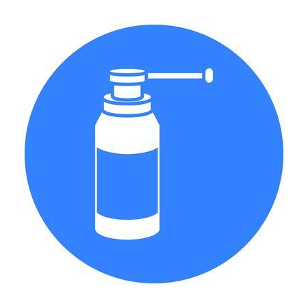 Throat Spray-Symbol schwarz. Einzel Medizin-Symbol aus der großen medizinischen, Healthcare schwarz.