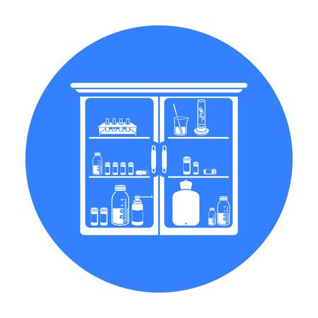 Medicines icon black. Single medicine icon from the big medical, healthcare black.