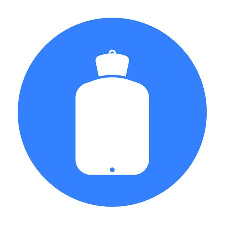 warmer: Warmer icon black. Single medicine icon from the big medical, healthcare black. Illustration
