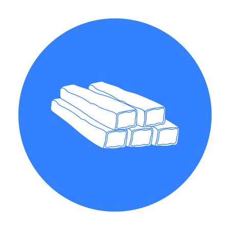 Icono de palos de cangrejo en estilo negro aislado sobre fondo blanco. Ilustración de vector stock carnes símbolo Foto de archivo - 70037862