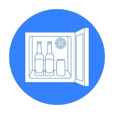 minibar: Mini-bar icon in black style isolated on white background. Kitchen symbol stock vector illustration.